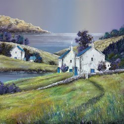 South Coast Hamlet by John Mckinstry -  sized 24x24 inches. Available from Whitewall Galleries